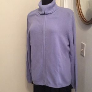 Croft & Barrow Periwinkle Blue Cotton Sweater, XL